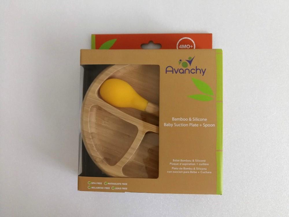 写真:アヴァンシー竹のプレート+スプーンセットAvanchyT-REX 箱表面