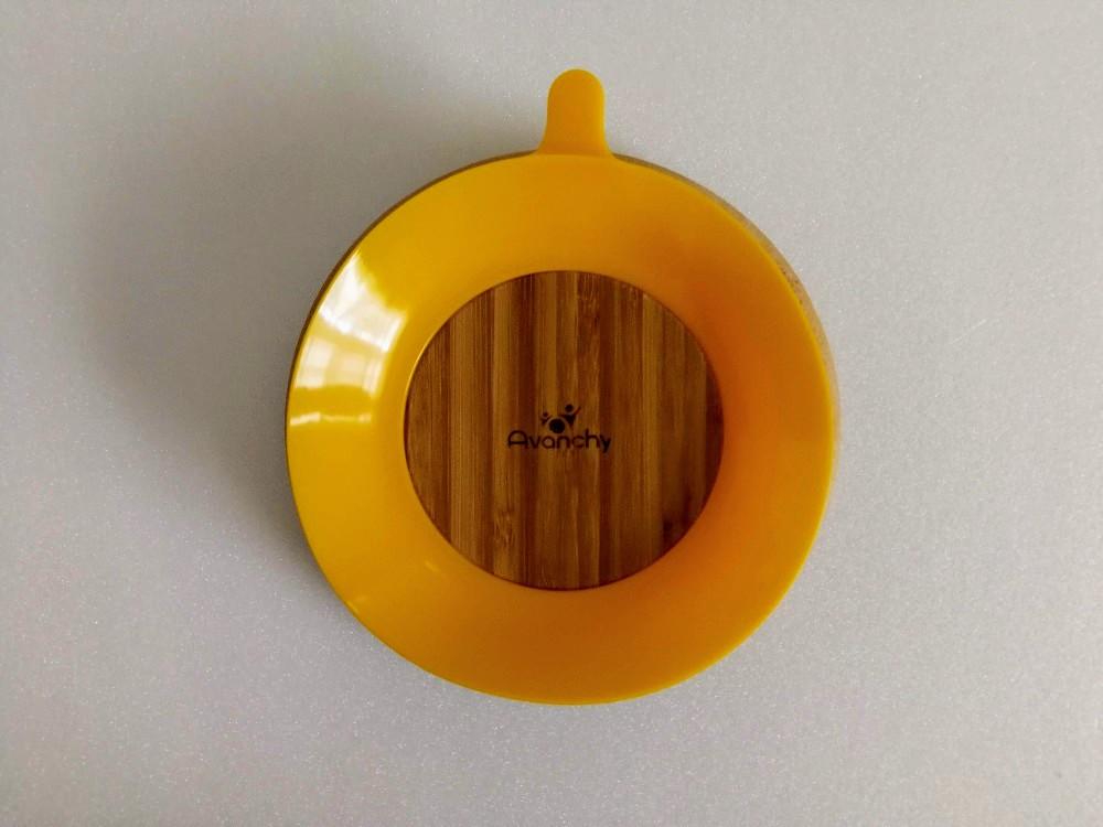写真:アヴァンシー竹のプレート+スプーンセットAvanchyT-REX 吸盤