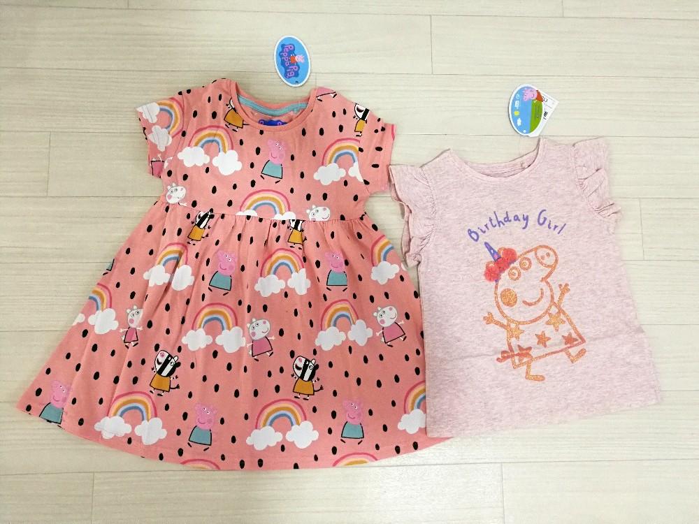 写真:nextで購入したペッパピッグの洋服
