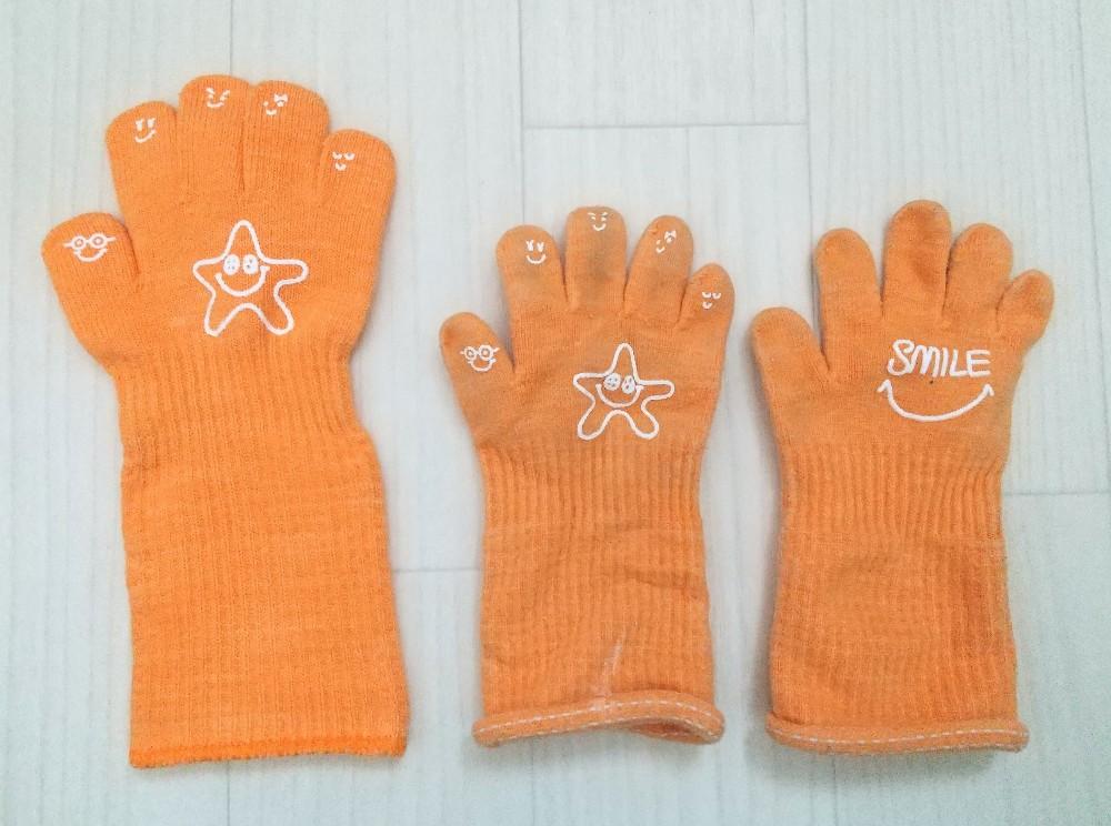写真:洗濯後 幼児用 手袋 Handside ハンドサイド 日本製 抗菌・抗ウイルス加工済 軍手